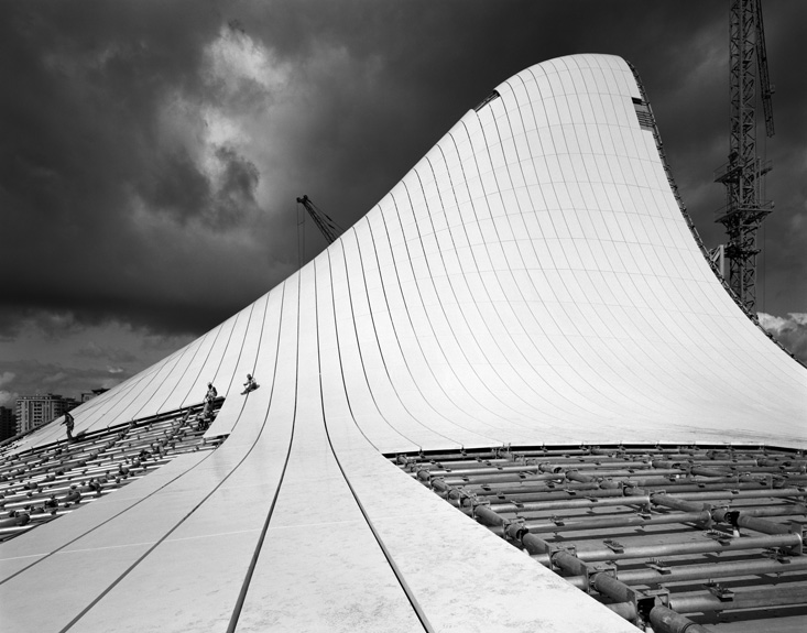 Hélène Binet - Architectural Landscape in Baku (Architecture by Zaha Hadid), courtesy ammann//gallery