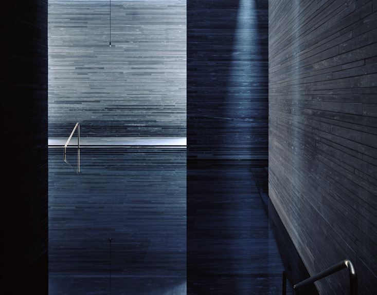Hélène Binet - Therme Vals Diptychon B (Architecture by Peter Zumthor), courtesy ammann//gallery