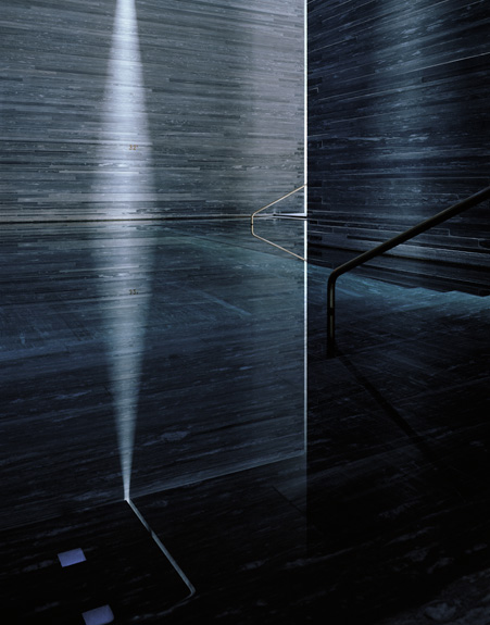 Hélène Binet - Therme Vals Triptychon A (Architecture by Peter Zumthor), courtesy ammann//gallery