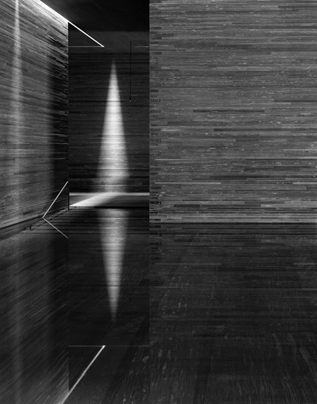 Hélène Binet - Therme Vals Triptychon B (Architecture by Peter Zumthor), courtesy ammann//gallery