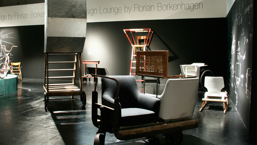 ammann//gallery furnishing the Cologne Fine Art & Antiques 2010 Design Lounge with works by Florian Borkenhagen