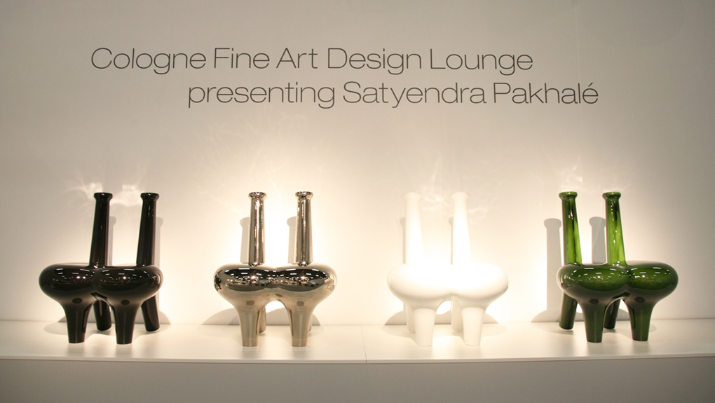 ammann//gallery furnishing the Cologne Fine Art & Antiques 2010 Design Lounge with works by Satyendra Pakhalé