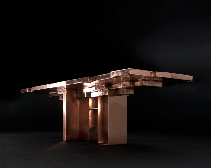 studio nucleo copper age table exclusive produced for ammann//gallery