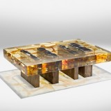 nucleo wood fossil coffee table exclusive for ammann gallery